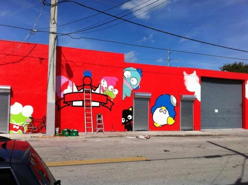 hello kitty art basel. But the Art Basel visit is one especially significatant as they will